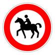 Verbot für Reiter – RGB-Rot