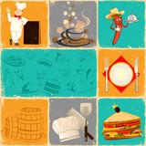 Retro Food Collage