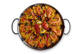 Isolated Traditional Spanish Paella poster