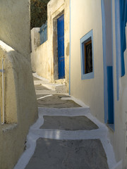Narrow Street in Fira Santorini Greece