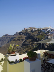 Fira the Capital town of the island of Santorini Greece