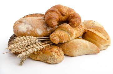 Brötchen, Croissants und Ähren