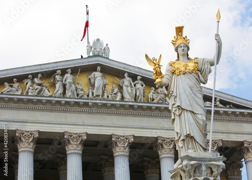 Pallas Athena Statue in Vienna at the Austrian Parliament