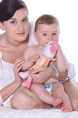 woman with baby girl