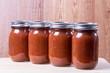 Tomato sauce in mason jars