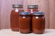 Fresh tomato sauce in jars