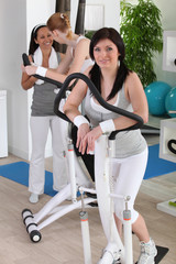 Ladies in fitness club