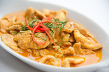 Fototapety Dried red pork coconut curry (Panaeng) : Famous Thai food