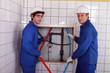 Team of plumbers