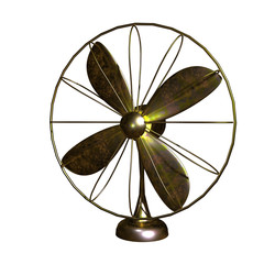 Old fan made by copper for adv or others purpose use