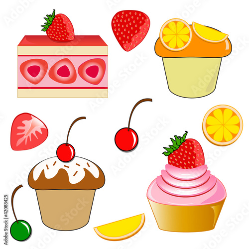 ... : Strawberry shortcake. Strawberry cupcake. Chocolate cherry cupca