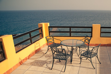 terrace near the sea