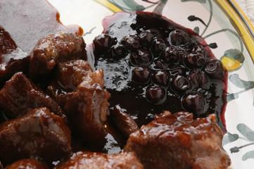 鹿肉与蓝莓 Rehrücken mit Heidelbeeren 블루베리와 사슴 고기