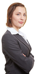 Selbstsichere Geschäftsfrau
