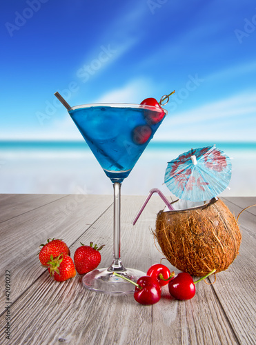 Summer martini drink