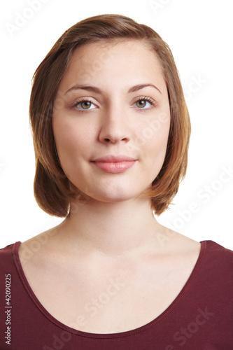 Portrait einer ernsten Frau