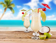 Pina colada drinks