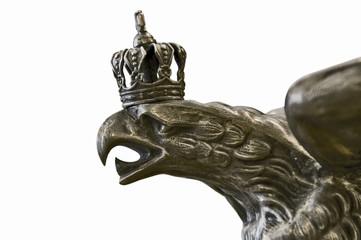 Detail einer preussischen Helmbekrönung