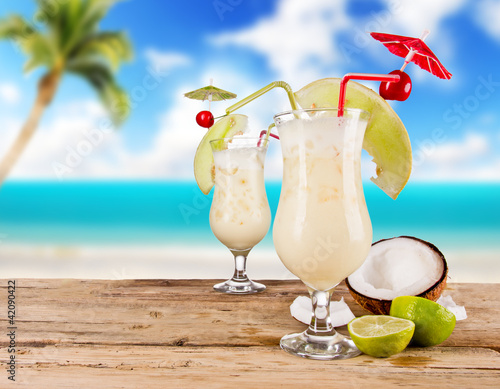 Pina colada drinks