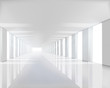 Empty White Hall. Vector Illus...