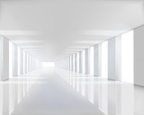 Fototapety Empty white hall. Vector illustration.