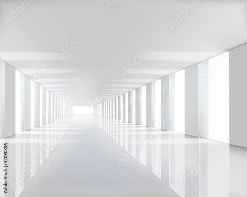 Leere weiße Halle. Vektor-Illustration.