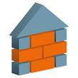 Haus Signet Bau Bauen Planung Maurer Logo mit QXP9 Datei
