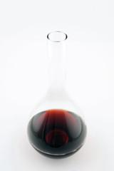 carafe à décanter le vin rouge