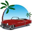 Auto descapotable de los años 50