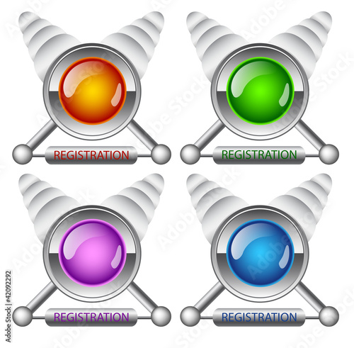 creative buttons Registration
