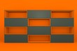 orange-gray color box rectangler