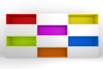 colorful color box rectangler