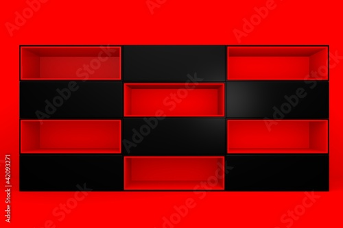 red-black color box rectangler