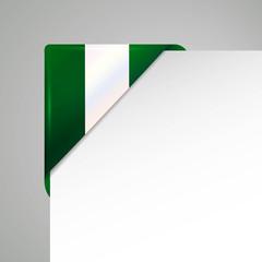 nigeria vector flag corner
