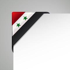 syrien metallic vector flag corner