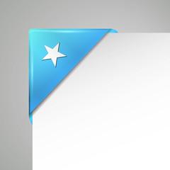 somalia metallic vector flag corner