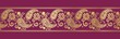 traditional paisley floral border, textile design, royal India