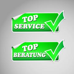 service und beratung sticker set