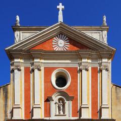 Façade de la cathédrale d'Antibes