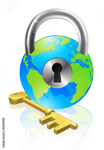 lock-and-key-globe