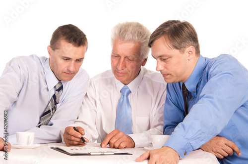 three businessmen portrait