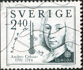 SWEDEN - 1982: shows Anders Celsius (1701-1744)
