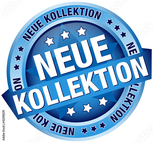 "Button Banner ""Neue Kollektion"" blau"