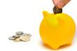 黄色い豚の貯金箱