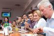 big family at table
