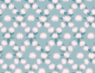 бесшовный фон из розовых цветов, хризантемы, Print