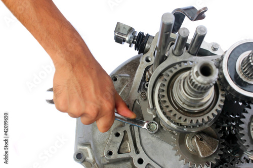canvas print picture gearbox repairing