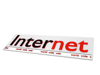 Internet world wide web - 3D