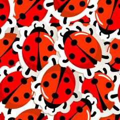 Red ladybug pattern