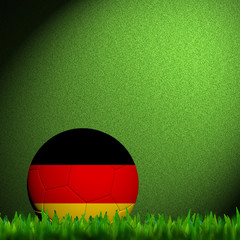 3D Football Germany Flag Patter in green grass